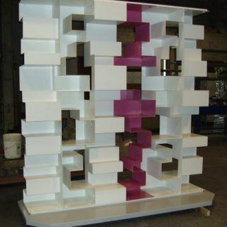 Progetto deco 2010 - realizzazione libreria modulare skyline