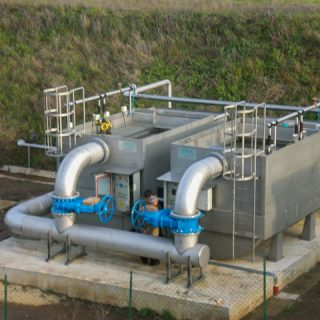 Tank for purification plant
