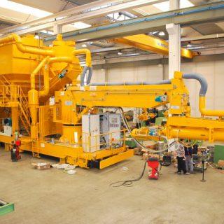 Carpenteria per impianto fonderia mixer