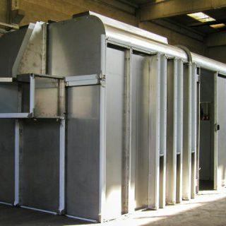 Struttura in inox per cabina impianto di verniciatura